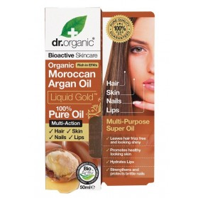 DR ORGANIC Pure Oil  Organic Moroccan Argan Oil 50ml