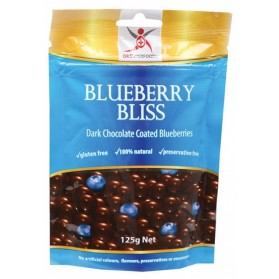 DR SUPERFOODS Blueberry Bliss  Dark Chocolate Blueberries 125g