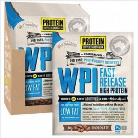 PROTEIN SUPPLIES AUST. WPI (Whey Protein Isolate) Chocolate 12x30g