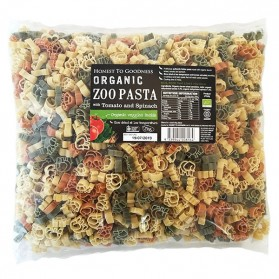 Organic Zoo Pasta with Tomato & Spinach 2KG