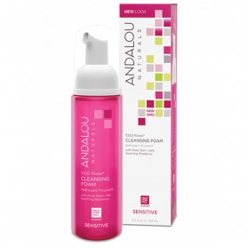 ANDALOU NATURALS 1000 Roses (for Sensitive Skin) Cleansing Foam 163ml
