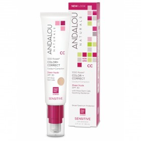 ANDALOU NATURALS 1000 Roses (for Sensitive Skin)  Colour + Correct Sheer Nude 58ml