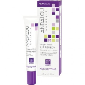 ANDALOU NATURALS Age Defying (for Dry Skin) Argan + Mint Lip Remedy 12ml