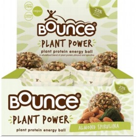 BOUNCE - Energy Balls - Plant Power Almond Spirulina (Box of 12) 12x40g