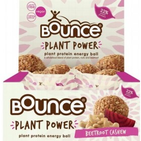 BOUNCE - Energy Balls - Plant Power Beetroot Cashew (Box of 12) 12x40g