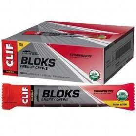 CLIF BLOKS ENERGY CHEWS Strawberry - 18x60g
