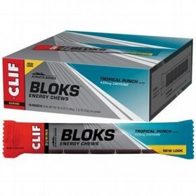CLIF BLOKS ENERGY CHEWS Tropical Punch - 18x60g