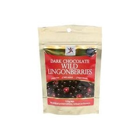 DR SUPERFOODS Wild Lingonberries  Dark Chocolate Lingonberries 125g
