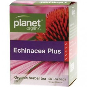 PLANET ORGANIC Herbal Tea Bags  Echinacea Plus 25 bags
