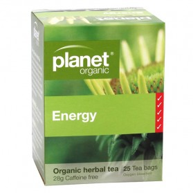 PLANET ORGANIC Herbal Tea Bags  Energy 25 bags