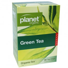 PLANET ORGANIC Herbal Tea Bags  Green Tea 50 bags
