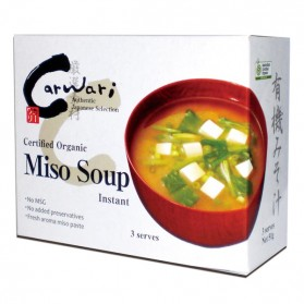 Carwari ORGANIC INSTANT MISO SOUP X 3 SERVES