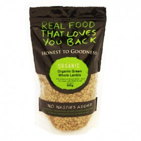 Honest to Goodness ORGANIC GREEN LENTILS WHOLE 500G