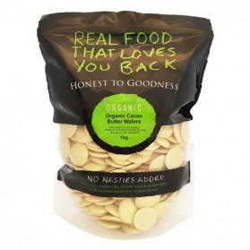 Honest to Goodness ORGANIC CACAO BUTTER WAFERS 350G
