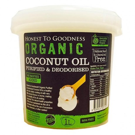 Honest to Goodness ORGANIC COCONUT OIL PURIFIED/DEODORISED 1L
