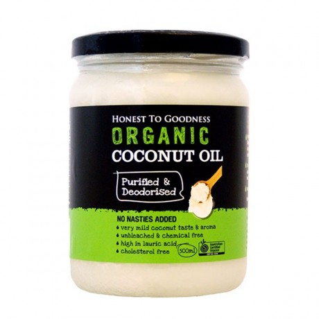 Honest to Goodness ORGANIC COCONUT OIL PURIFIED/DEODORISED 500ML