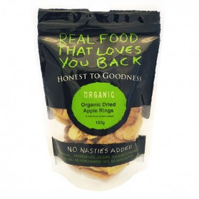 Honest to Goodness ORGANIC DRIED APPLE RINGS 100G