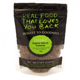 Honest to Goodness ORGANIC SULTANAS NATURALLY DRIED 200G