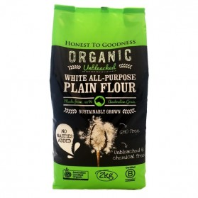 Honest to Goodness ORGANIC UNBLEACHED WHITE ALL-PURPOSE PLAIN FLOUR 2KG