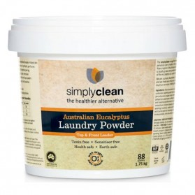 SimplyClean AUST EUCALYPTUS LAUNDRY POWDER WITH OXYGEN STAIN REMOVER 4KG