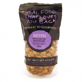 Honest to Goodness ALMONDS RAW INSECTICIDE FREE 500G