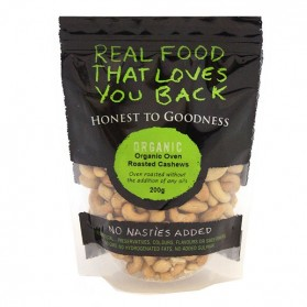 Honest to Goodness ORGANIC CASHEWS OVEN ROASTED 200G