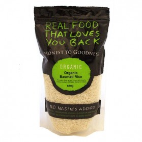 Honest to Goodness ORGANIC BASMATI RICE - WHITE 650G
