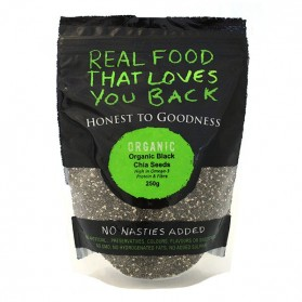 Honest to Goodness ORGANIC CHIA SEEDS BLACK 250G