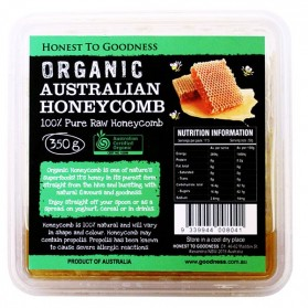 Honest to Goodness ORGANIC AUSTRALIAN HONEYCOMB 350G