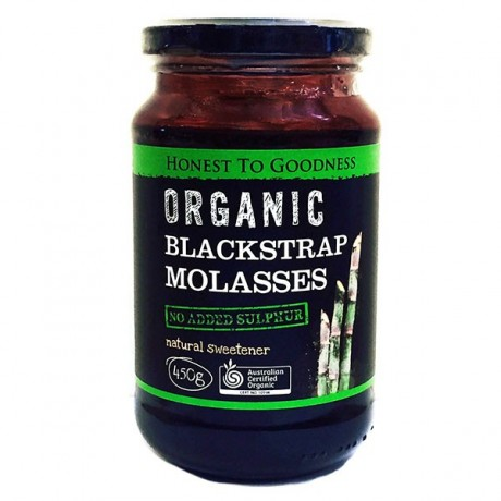 Honest to Goodness ORGANIC BLACKSTRAP MOLASSES 450G