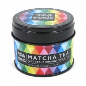 Platinum Plain Matcha Tea Tin